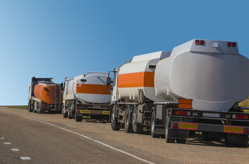 Fuel trucks at the roadside