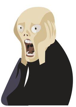 feared man scream