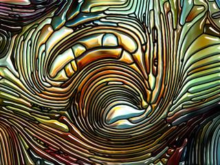 Unfolding of Iridescent Glass
