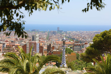 Barcelona cityscape from Park Guell