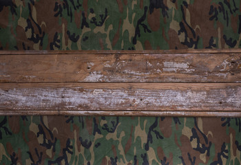 military wooden background