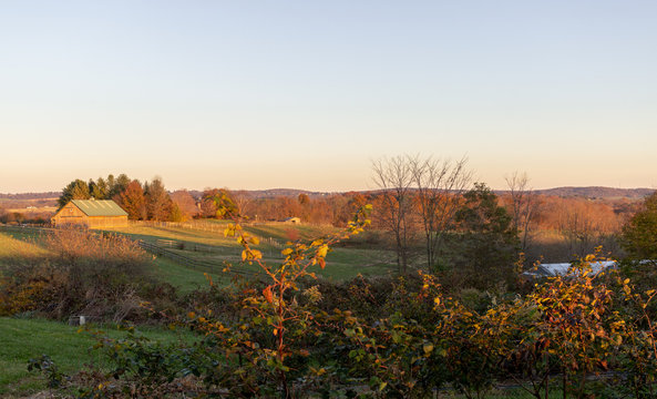 Rural Frederick County Maryland Landscape Farm in Autumn
