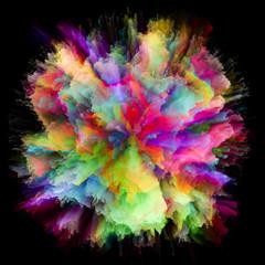 Visualization of Colorful Paint Splash Explosion