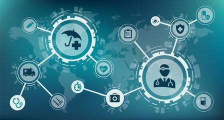 health insurance concept / modern healthcare business / urgent care concept – vector illustration