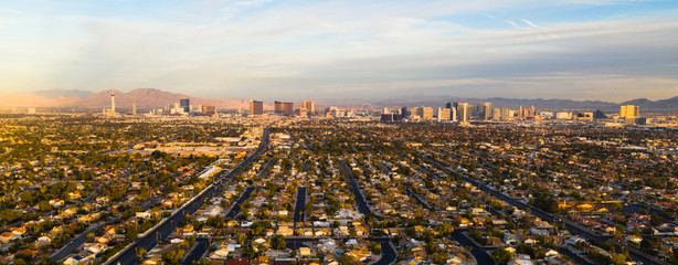 Printed roller blinds Las Vegas Long Panoramic View Residential Expanse Outside the Strip Las Vegas