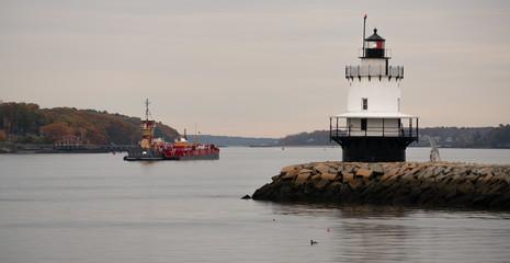 Spring Point Ledge Light Sparkplug Lighthouse Beacon Harbor Portland Maine