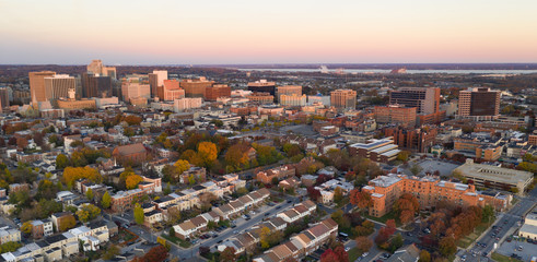 Wilmington Delaware Late Afternoon Light Downtown City Skyline