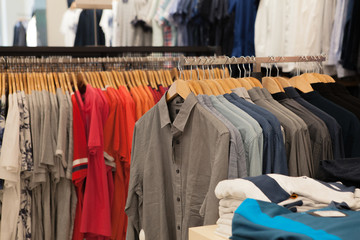 shirt for the man on hangers Fashion Cloth Hangers with Shirts. Men's business clothes