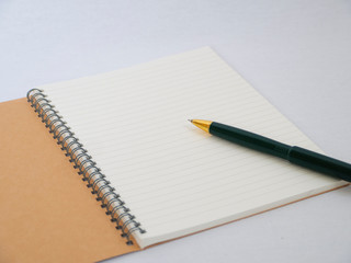 business note and pen isolated