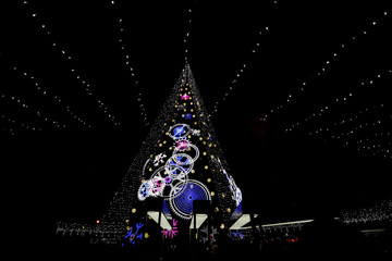 A general view of the Christmas tree in Vilnius