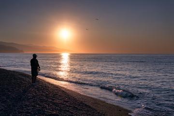 Man is fishing