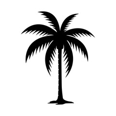[PALM TREE] Palm tree silhouette vector image.