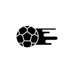 Soccer ball black icon, concept vector sign on isolated background. Soccer ball illustration, symbol