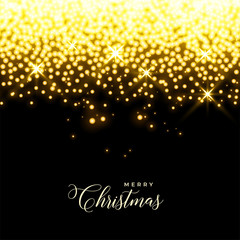 glowing golden stars and sparkles christmas background