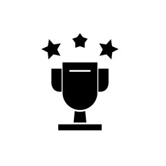 Cup awards black icon, concept vector sign on isolated background. Cup awards illustration, symbol