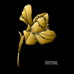 golden floral decoration