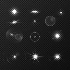 Lens Black White Flares Set
