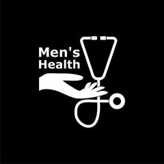 Men's Health text, Men's Health logo or icon on dark background