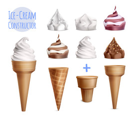 Realistic Ice Cream Constructor