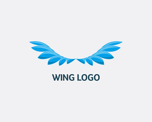 Abstract Wing logo design concept, Modern Wing logo design template