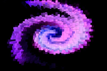 Black and purple background, computer generated images