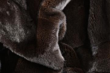 Mink brown fur texture.