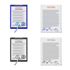 Isolated object of form and document sign. Set of form and mark vector icon for stock.