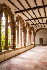 Former cloister of the Church of the Trinitarians in Vianden, Luxembourg