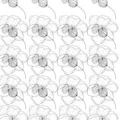 Seamless pattern of flowers.