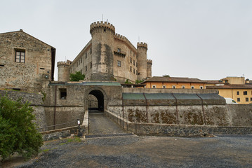 View of the entrance to the castle of Bracciano in Italy