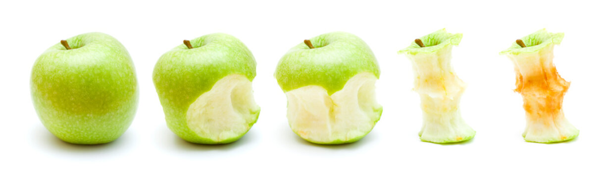 green apple eating progression