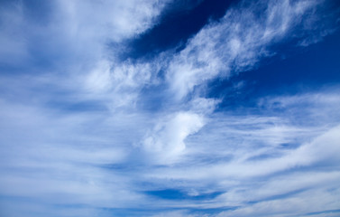 natural background of sky and clouds