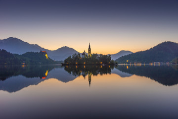 Lake Bled, Alps, Slovenia, Europe