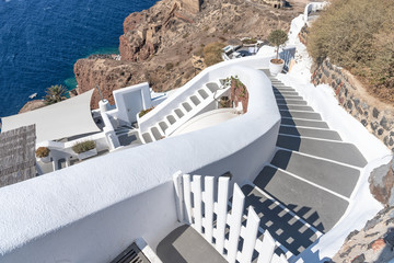 Oia stairs - Santorini Cyclades Island - Aegean sea - Greece