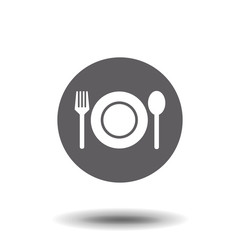 plate fork and spoon food icon symbol