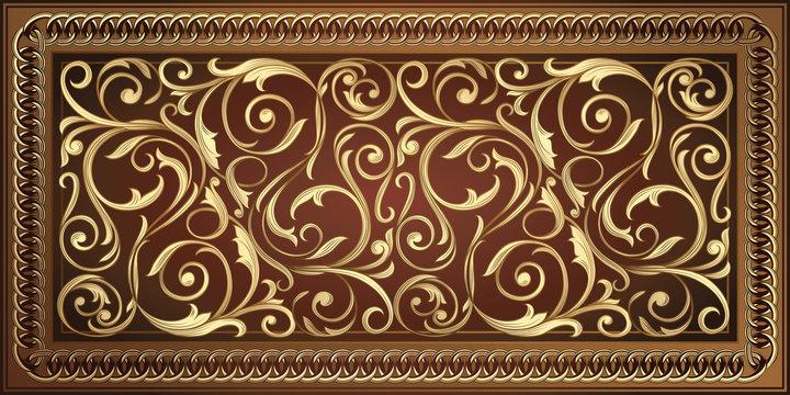 Golden vintage ornate decorative design