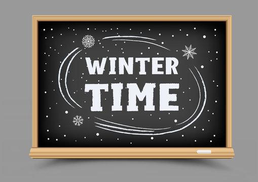 blackboard winter time