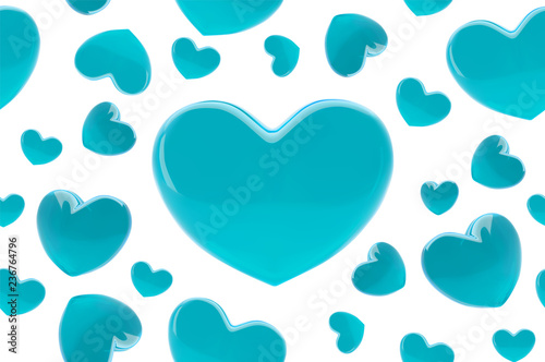 Stylish Valentines Day Background Seamless Pattern With Turquoise