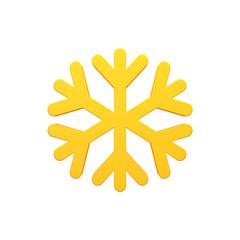 Snow 3d volumetric icon image isolated illustration