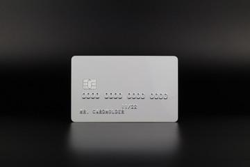 Obraz White credit card on luxury dark background - fototapety do salonu