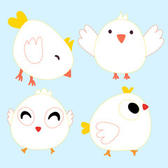 chick page coloring vector design