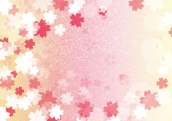 桜背景横黄色系