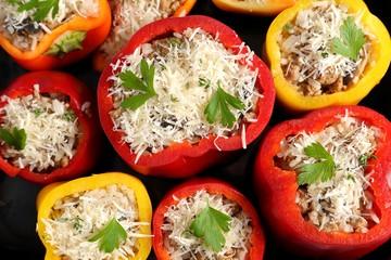 Stuffed peppers.