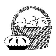 wicker basket and blanket