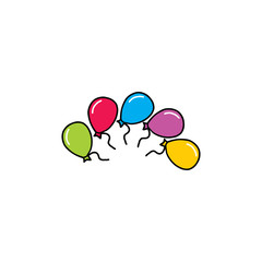 colorful balloon circle logo vector