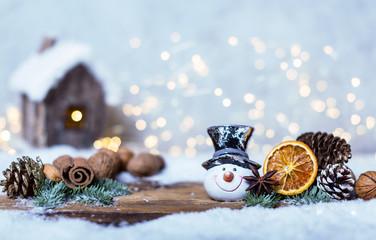 hintergrund weihnachten bokeh lichter haus