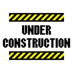 Pixel under construction text detailed illustration isolated vector