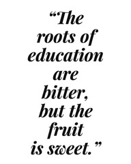Education and knowledge related philosophical quote calligraphy for poster, printable, frame, decor, and social media.