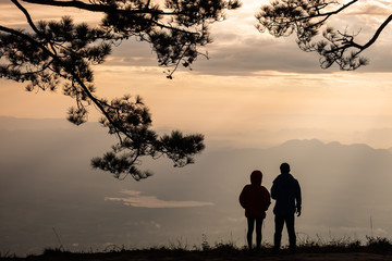 couple at the viewpoint