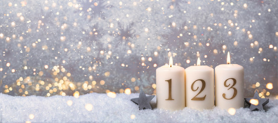 3.Advent Hintergrund golden bokeh